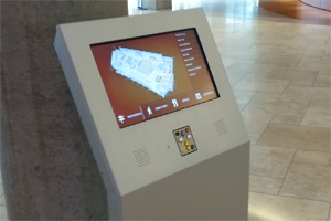 EZ Access hardware used in wayfinding kiosk.